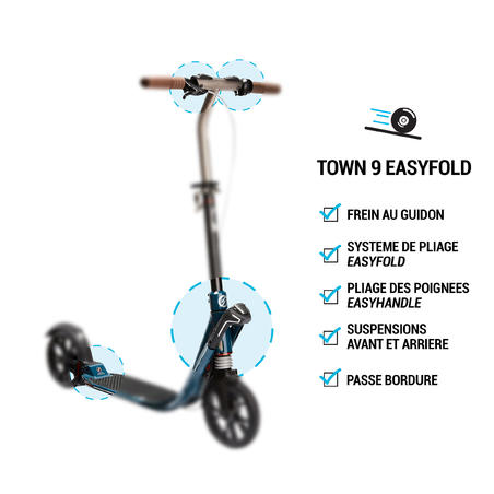 Самокат Town 9 EF для дорослих - Рожевий