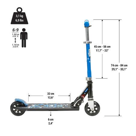 ស្គុតទ័រសម្រាប់កុមារ MID 1 Robot ពណ៌ខៀវ