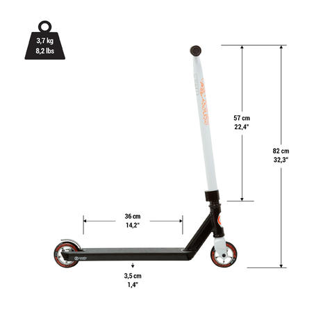 MF1.8 akrobatinio važiavimo paspirtukas – žydros spalvos
