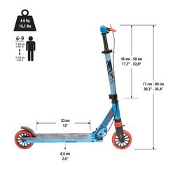 Kinder-Scooter Mid 5 mit Federung und Lenkerbremse Kaktus