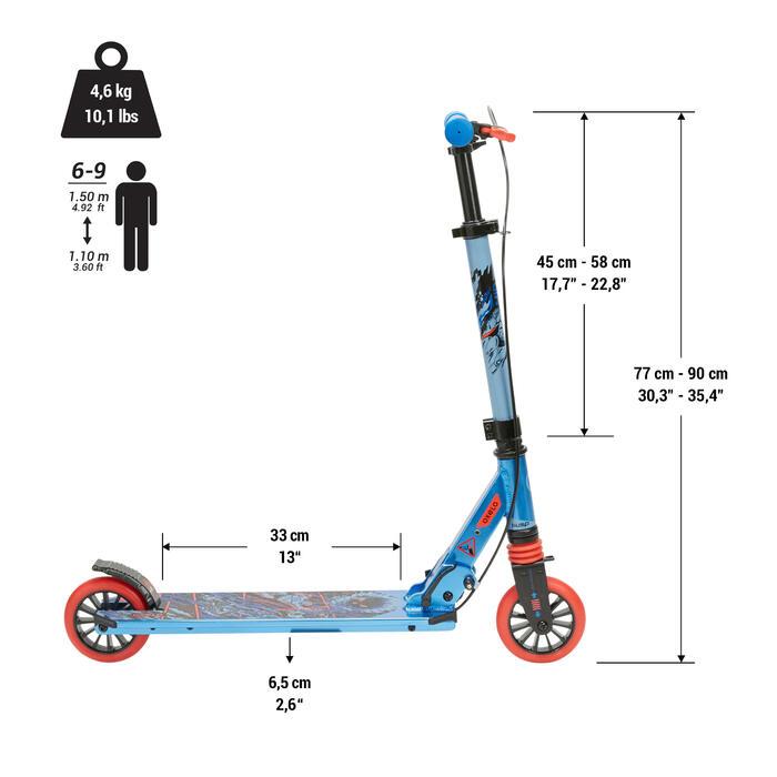 兒童滑板車附手把煞車MID5 - 超級英雄樣式