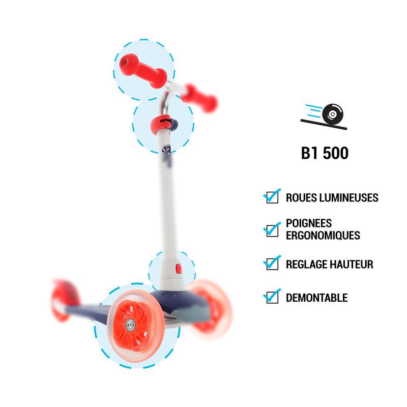 B1 500 Kids' Scooter - White/Mint