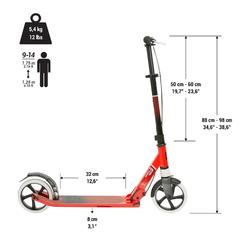 City-Roller Scooter Mid 9 grau