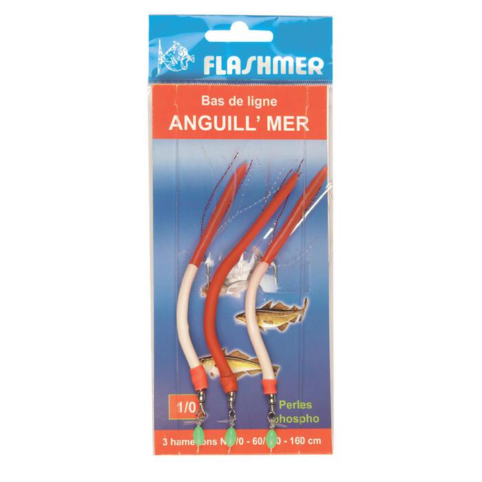 CUILLERS/PLUMES PÊCHE EN MER ANGUILL MER 3 HAMEÇONS N°1/0 - 16423