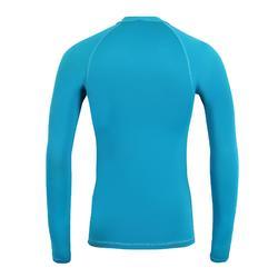 男款抗UV衝浪長袖T恤100-海洋藍