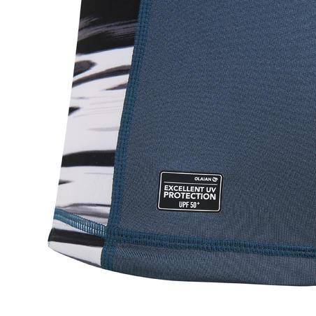 T-shirt Selancar Atasan Perlindungan UV Lengan Panjang Anak 500