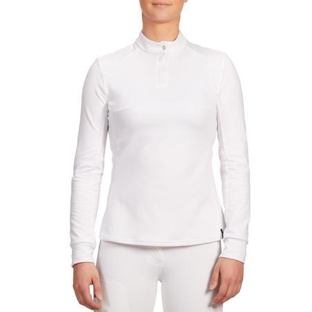 Šilti moteriški ilgarankoviai polo marškinėliai jojimo varžyboms 500