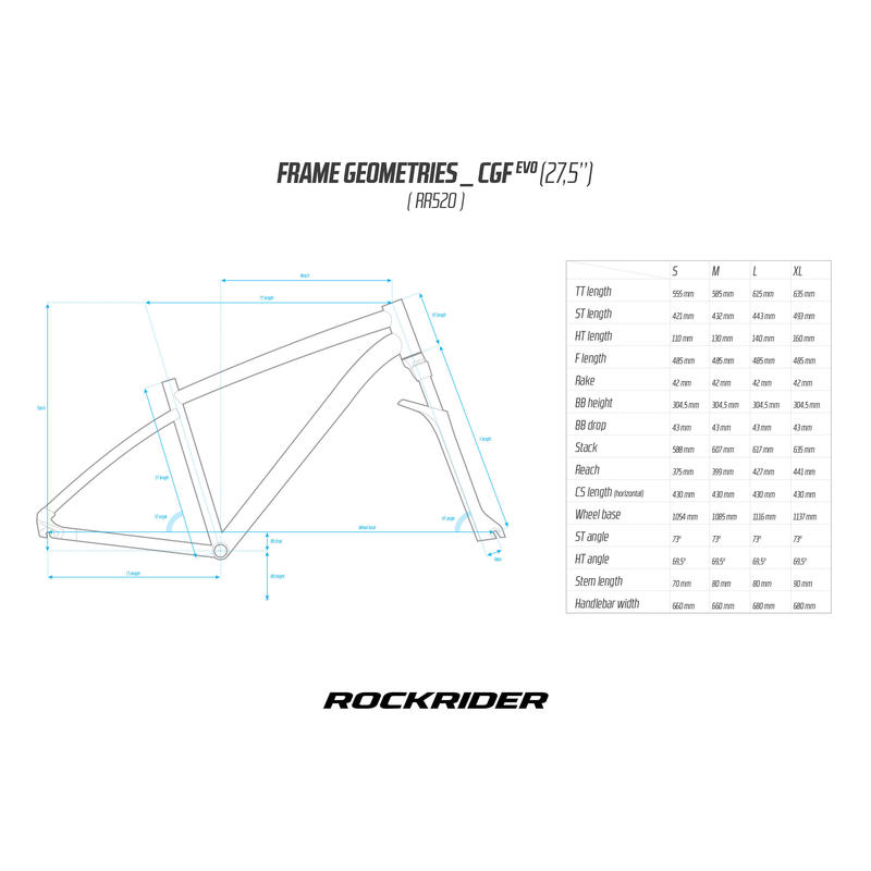 ROCKRIDER 520 GREY LIME
