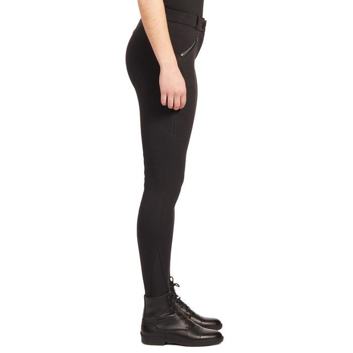 Winter-Reithose 140 Warm Kniebesatz Damen schwarz