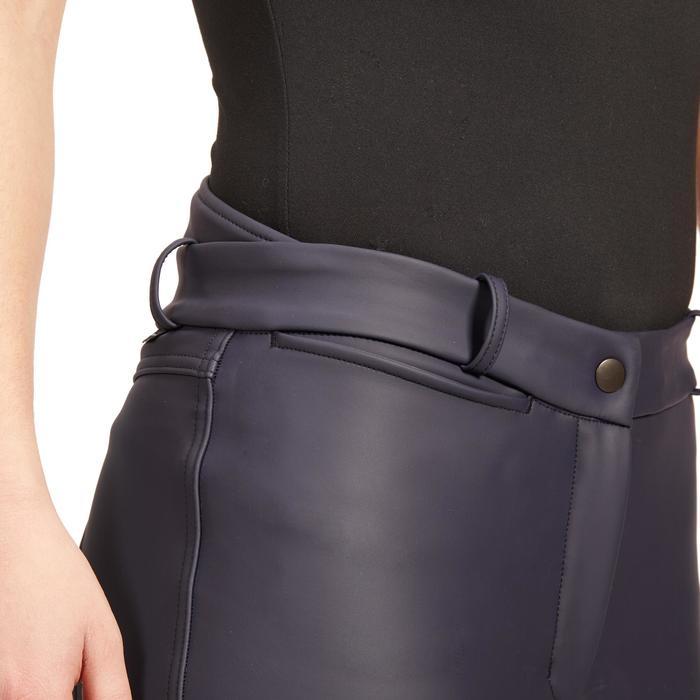 Pantalon chaud imperméable et respirant équitation femme KIPWARM marine