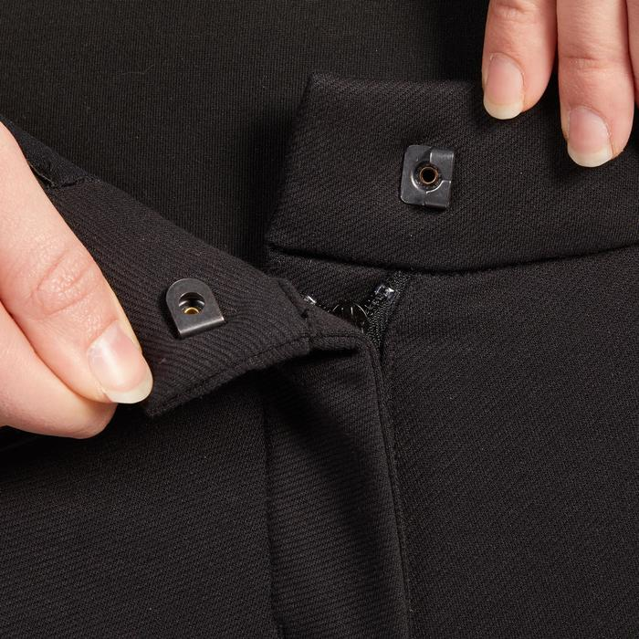 Pantalon chaud équitation femme 140 WARM noir
