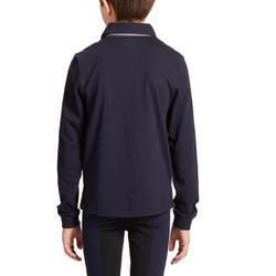 Reit-Poloshirt Langarm 140 Boy Kinder marineblau