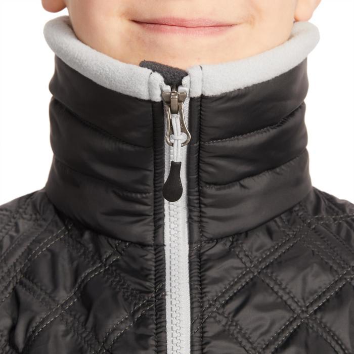 Reit-Fleecejacke 500 Warm Bi-Material Kinder grau