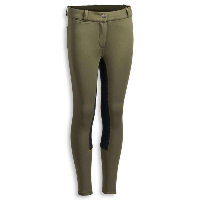 ABBIGLIAMENTO EQUITAZIONE JUNIOR INVERNO Equitazione - Pantaloni caldi 180 WARM verde FOUGANZA - Equitazione