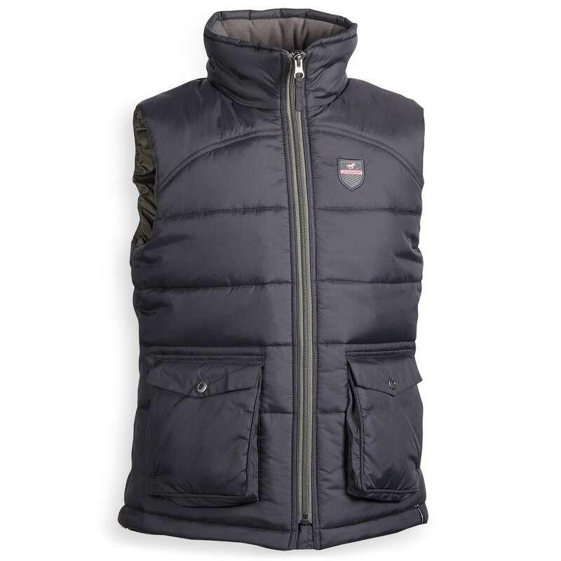 COLD WEATHER JR RIDINGWEAR Jezdectví - DĚTSKÁ VESTA 500 WARM  FOUGANZA - Oblečení pro jezdce