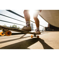 Lage skateschoenen voor volwassenen Vulca 500 zwart met rubberen zool