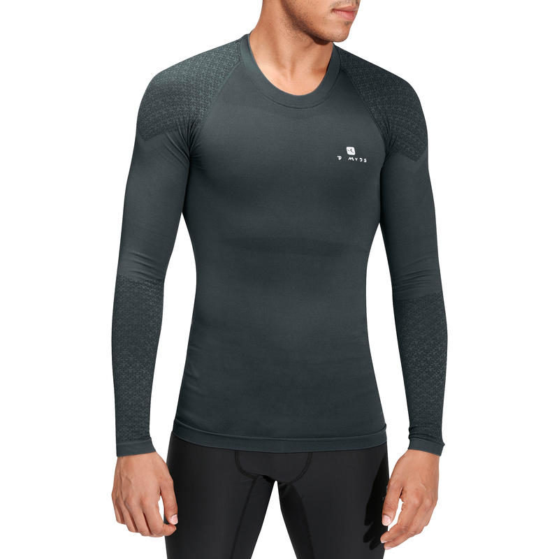 Muscle Xtreme Long-Sleeved Bodybuilding T-Shirt - Grey