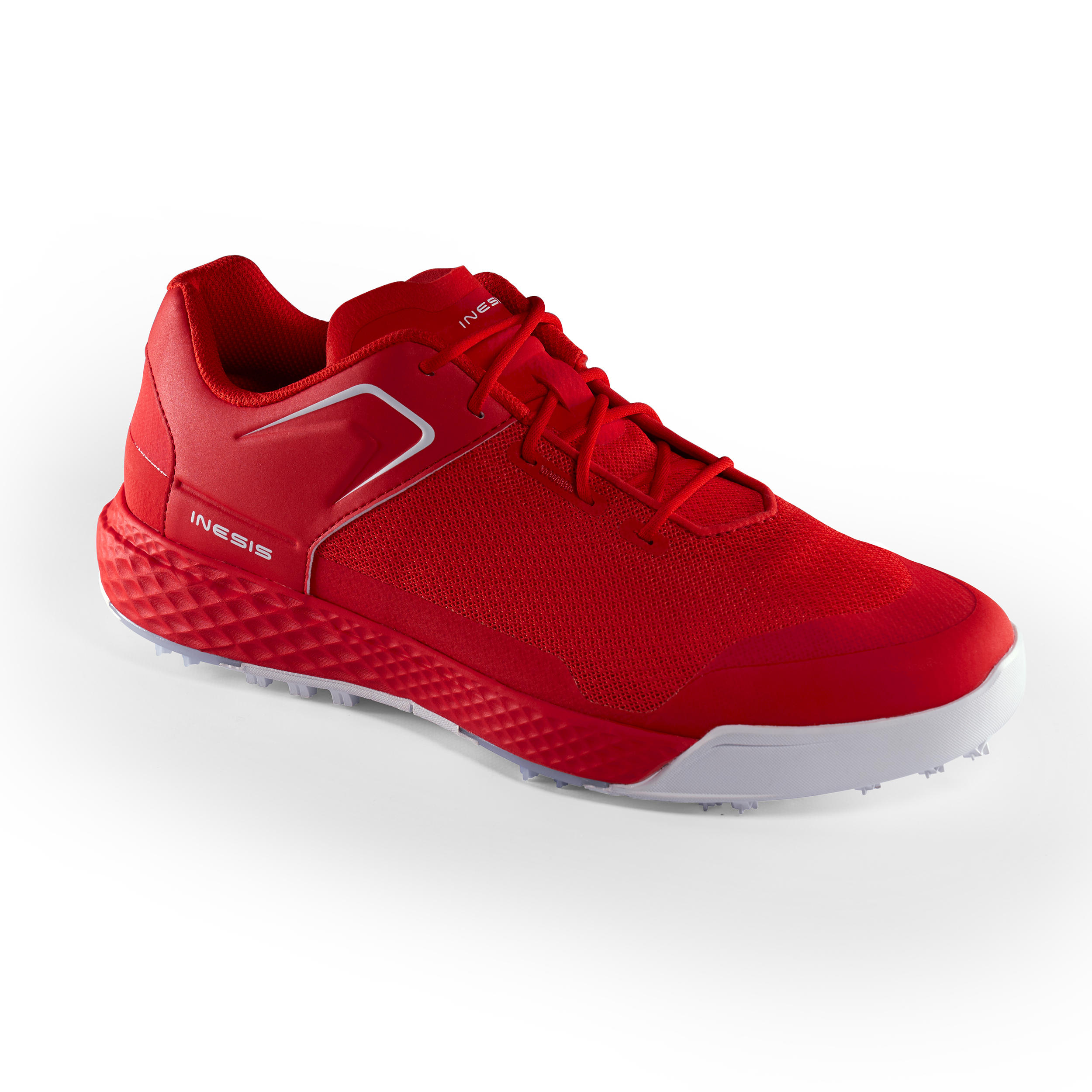 CHAUSSURES GOLF HOMME GRIP DRY ROUGES - Inesis