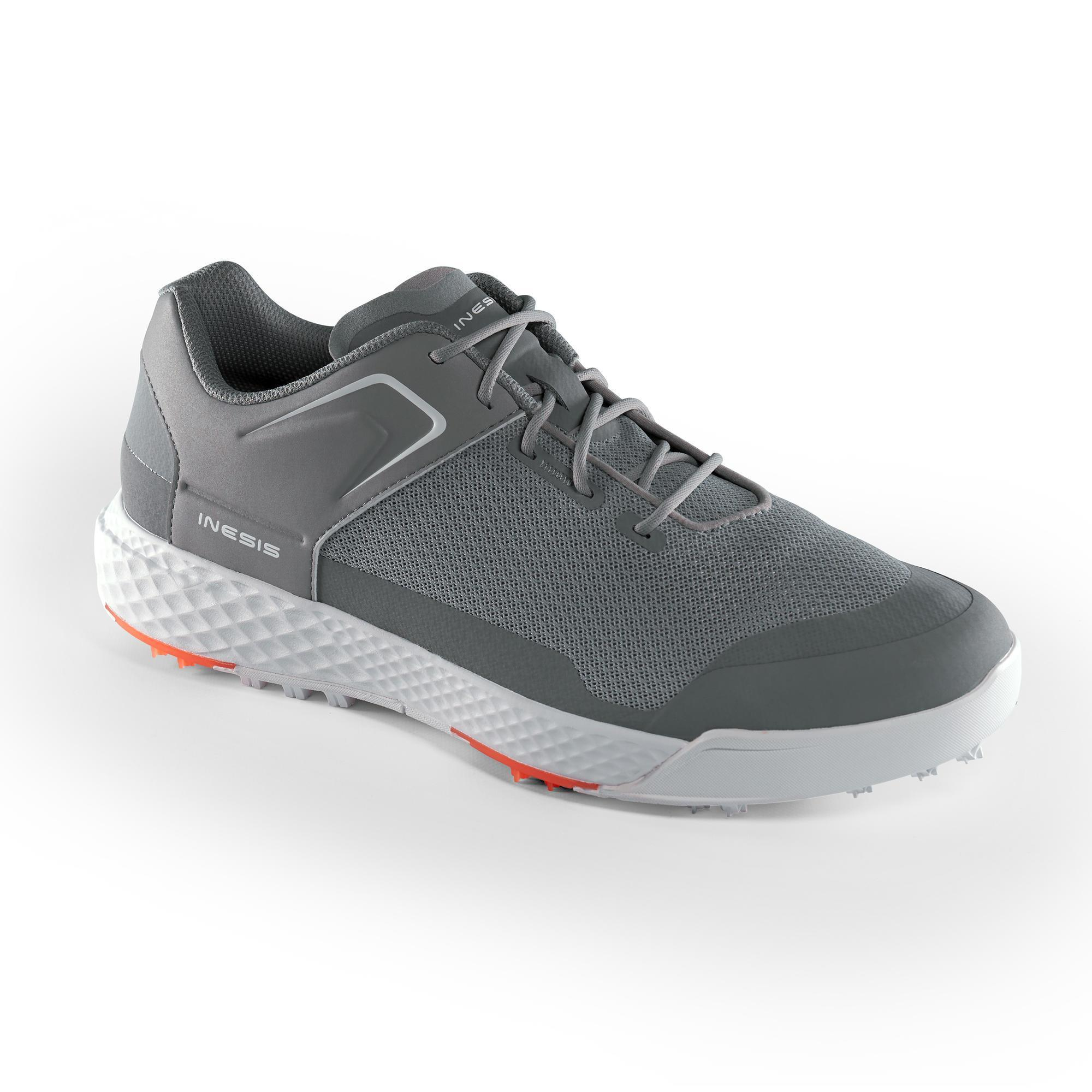 CHAUSSURES GOLF HOMME GRIP DRY GRISES - Inesis