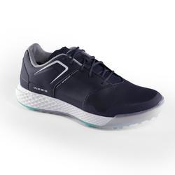 Golfschoenen dames Grip Waterproof marineblauw
