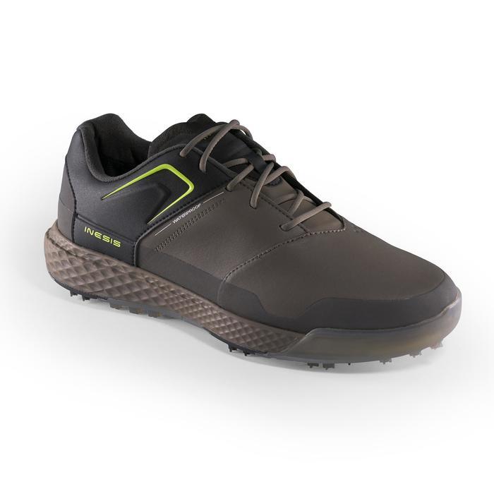 Golfschoenen heren Grip Waterproof kaki