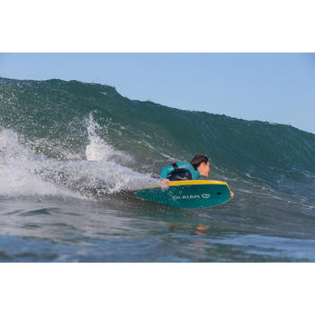 "Tabla Bodyboard Olaian 500 Adulto Mostaza Altura 1,55 m - 1,70 m 40"" + leash"