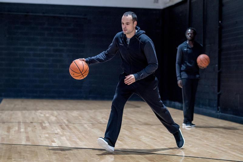 Men's/Women's Beginner High-Rise Basketball Shoes Protect 100 - Black