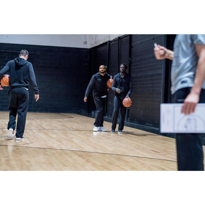 Trainingshose Basketball P100 Herren schwarz