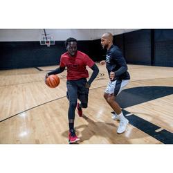 Basketballshirt 900 mit integrierten Manschetten Herren Profi rot Net
