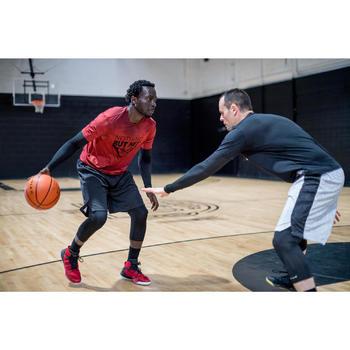 Basketbalshirt voor heren 900 geïntegreerde sleeves rood Nohting But Net