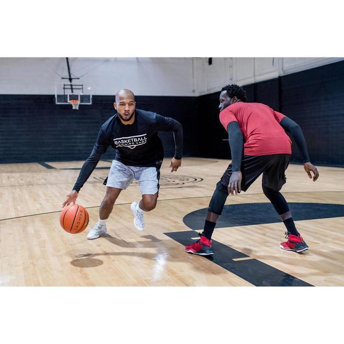 Basketbalshort voor heren SH500 grijs