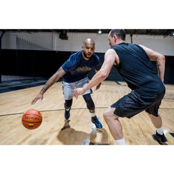 Basketballshorts SH500 Herren Fortgeschrittene grau