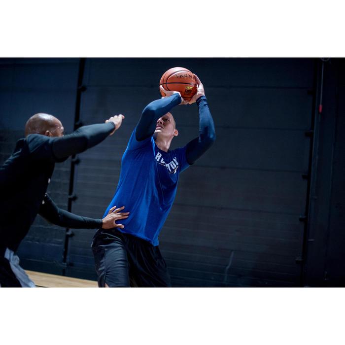 T-SHIRT BASKETBALL 900 HOMME AVEC MANCHONS INTÉGRÉS / MARINE HOUSTON