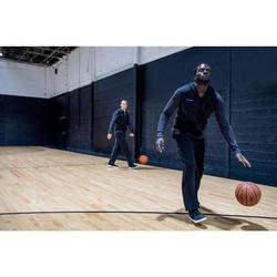 Trainingsjacke mit Kapuze Basketball J100 Herren Einsteiger schwarz