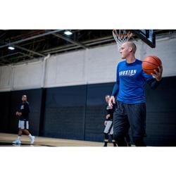 TEE-SHIRT BASKETBALL 900 AVEC MANCHON INTEGRE POUR HOMME EXPERT MARINE HOUSTON
