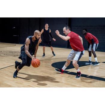 Basketballshorts SH500 Herren Fortgeschrittene schwarz/grau