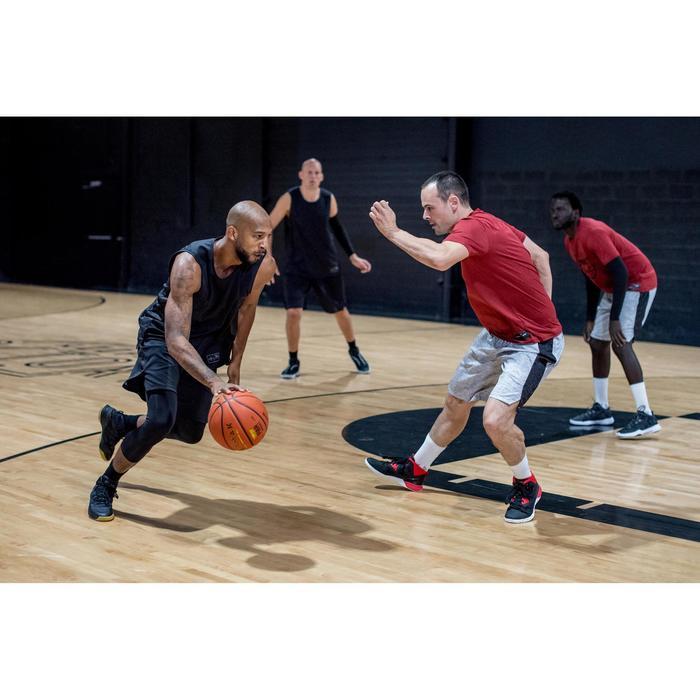 Basketbalshort voor heren SH500 zwart/grijs
