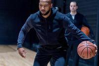 Veste à capuchon zippée de basketball noire - Homme