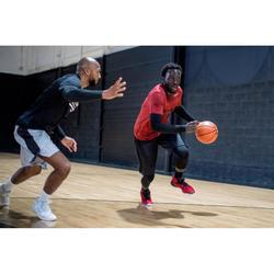 Basketbalshort SH500 heren gevorderd zwart grijs