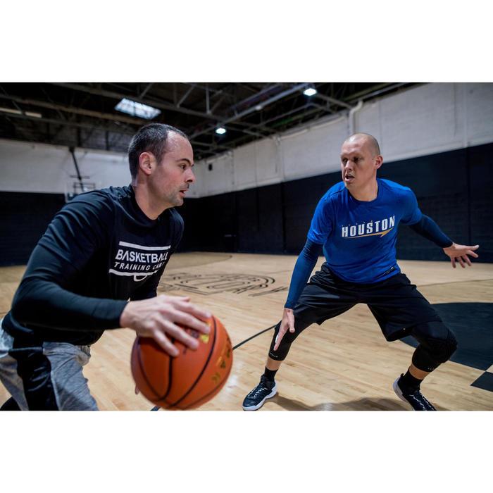 Basketballshirt 900 mit integrierten Manschetten Herren Profi marineblau Houston