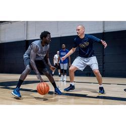 Basketballshorts SH500 Herren grau