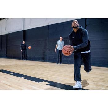 Chaqueta de Chándal Baloncesto Tarmak Hombre Con capucha Negro