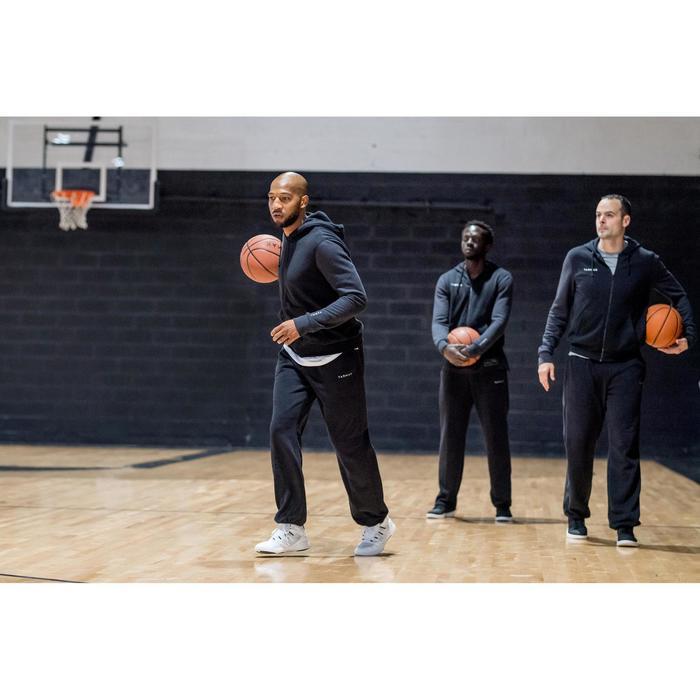 Hoodie met rits voor basketbal heren beginner zwart