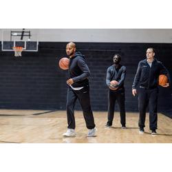 Hoodie met rits voor basketbal heren zwart