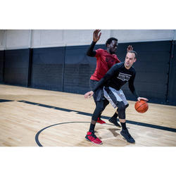 Ellenbogenschoner Sleeve Basketball Herren/Damen Fortgeschrittene schwarz