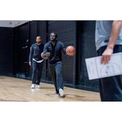 Trainingsjacke Basketball 100 mit Kapuze und Reißverschluss Herren schwarz