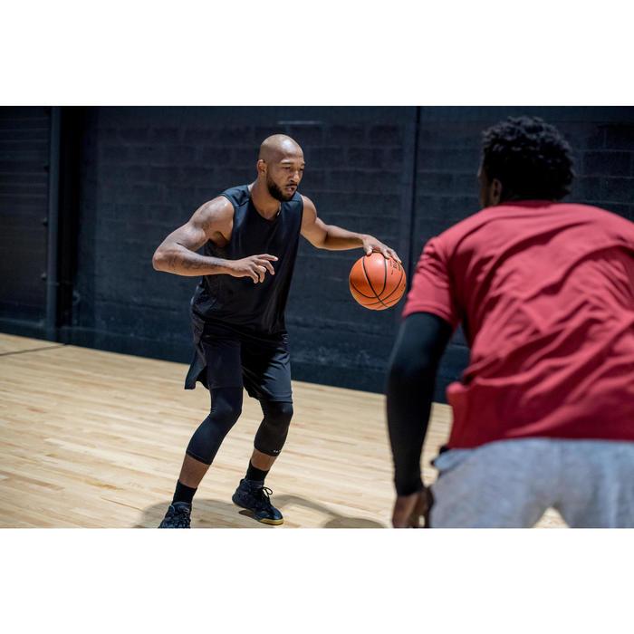 Mouwloos basketbalshirt T500 voor halfgevorderde heren zwart/grijs
