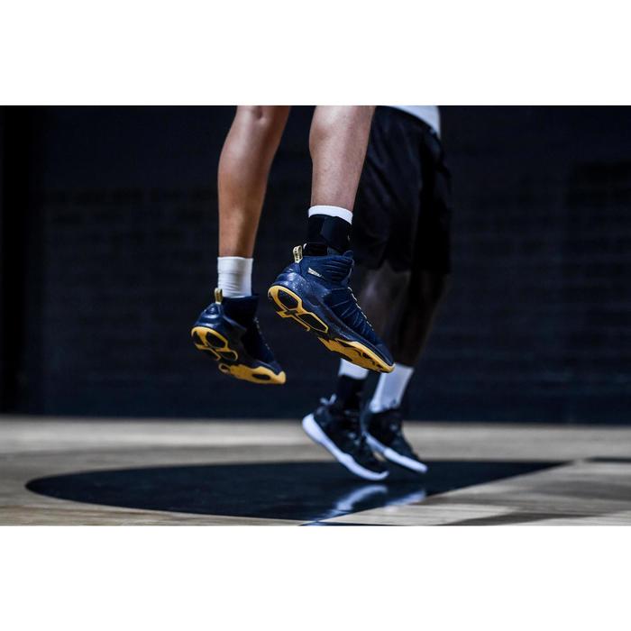 Basketballschuhe Shield 500 Erwachsene blau/gelb
