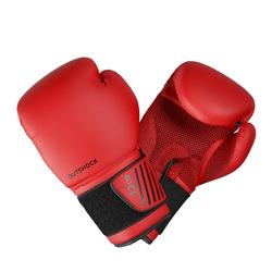 初階拳擊手套100 - 紅色