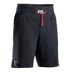 SHORT DE BOXEO 100 ADULTO NEGRO
